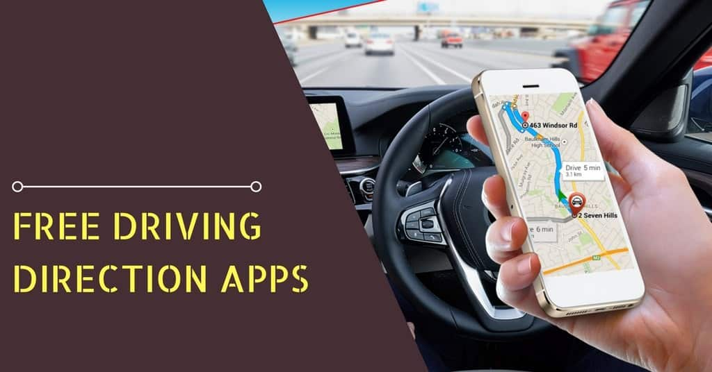 Free driving direction apps